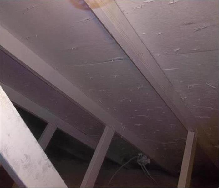 Attic after SERVPRO